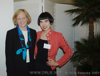 Meg Whitman and Drue Kataoka
