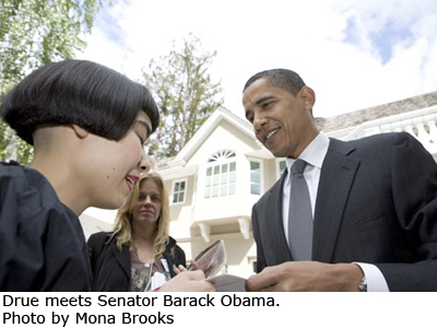 Barack Obama and Drue Kataoka