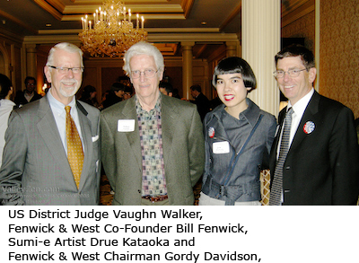 Judge Vaughn Walker, Bill Fenwick, Drue Kataoka and Gordy Davidson