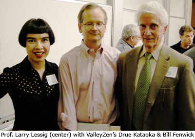 Larry Lessig, Bill Fenwick, and Drue Kataoka