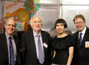 Nobel Laureate Martin Perl, Smithsonian Institution's Arthur Molella, Drue Kataoka, and TECH Museum President Peter Friess