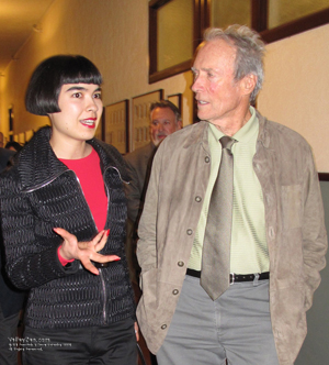 Clint Eastwood talks with ValleyZen's Drue Kataoka