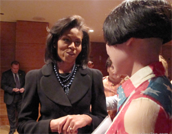 Drue and Bill meet Michelle Obama