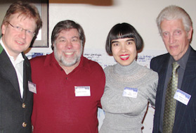 Peter Friess, Steve Wozniak, Drue Kataoka and Bill Fenwick