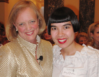 Drue Kataoka and Meg Whitman at MEGa Women