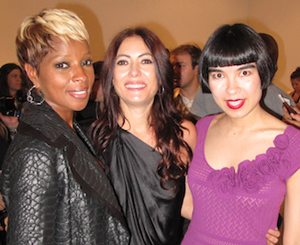 Mary J Blige, Catherine Malandrino and Drue Kataoka